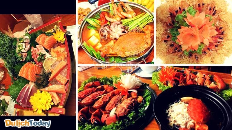 Tại nhà hàng Hương 2 bạn có thể nhìn thẳng ra vịnh Hạ Long