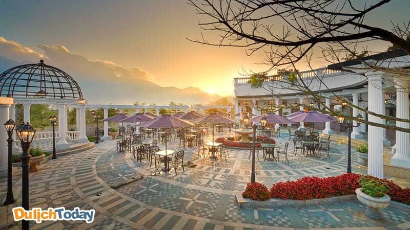 Không gian đậm phong cách châu Âu của Silk Path resort Sapa Lào Cai