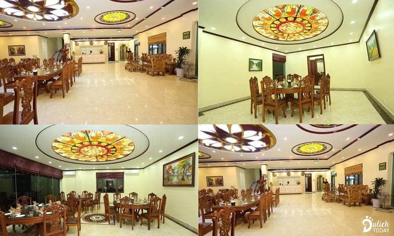 Nhà hàng nổi bật với nhiều phòng phục vụ đa dạng theo yêu cầu của du khách