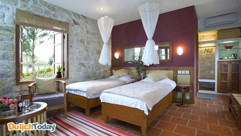 Phòng ngủ với nội thất tiện nghi