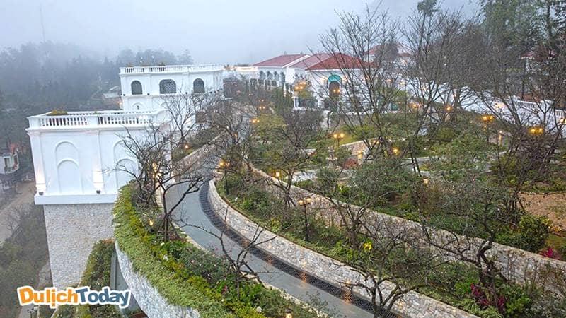 Quang cảnh của resort Silk Path Sapa với vẻ đẹp huyền ảo