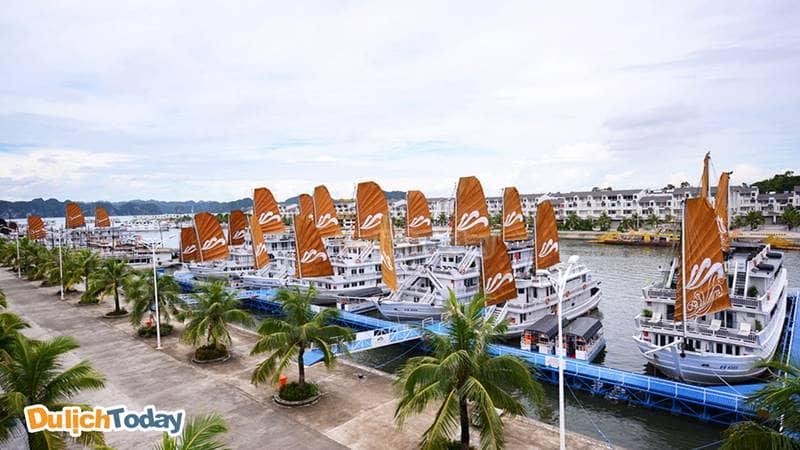 Cảng du thuyền Tuần Châu với thiết kế đặc sắc là nơi chụp ảnh check-in tuyệt đẹp