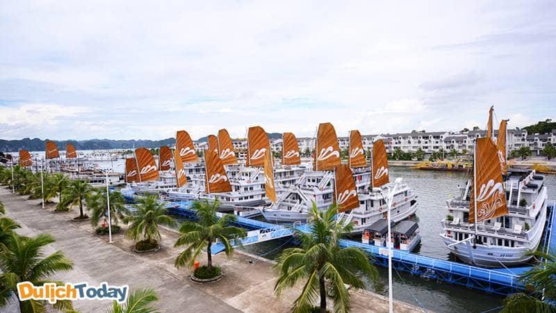 Bến du thuyền Tuần Châu được thiết kế hiện đại, đẹp mắt