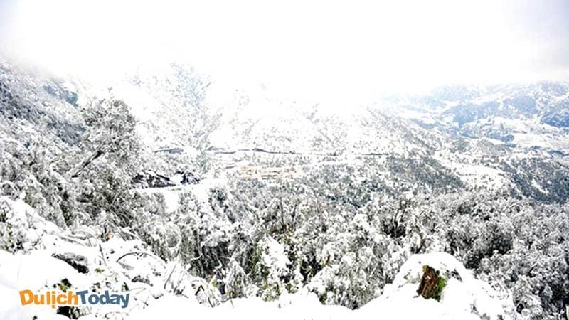 Tuyết rơi ở cổng trời Sapa vào những ngày đông lạnh giá