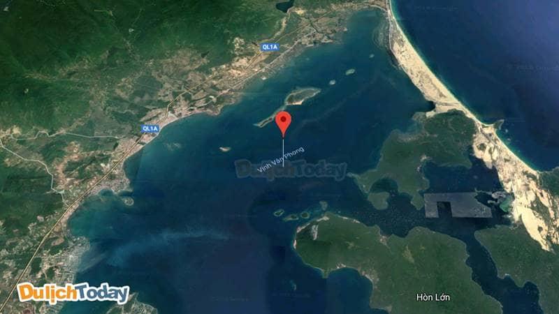 Bản đồ Vịnh Vân Phong -eo biển kín gió và rộng lớn
