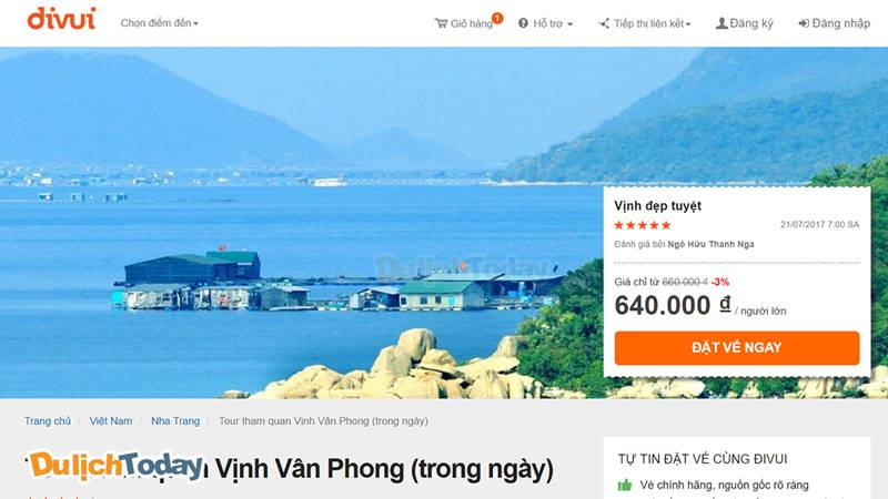 Tour vịnh Vân Phong 1 ngày của Đi vui