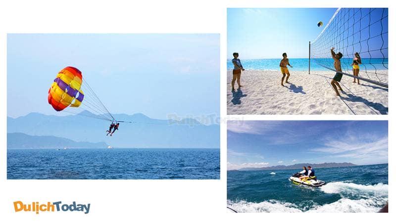 Một số hoạt động vui chơi tại bãi biển Dốc Lết