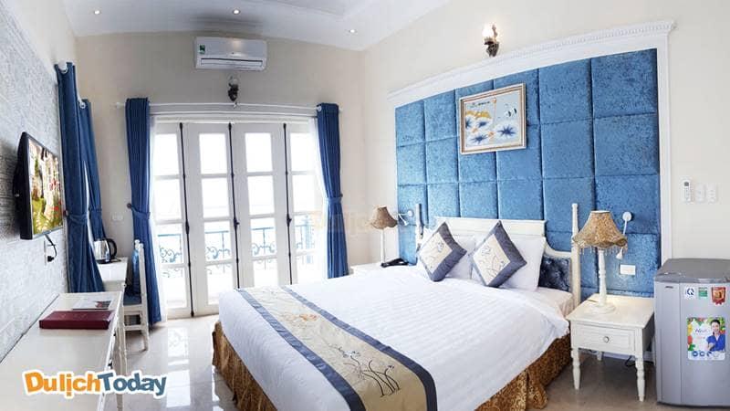 Phòng ngủ thiết kế theo phong cách trang nhã tại khu biệt thự Châu Âu