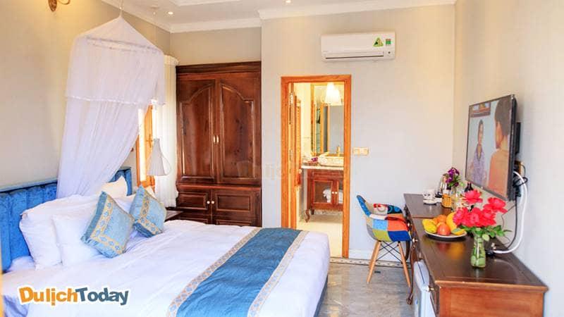 Phòng ngủ tại Villa Đảo Hoa Phương Đông