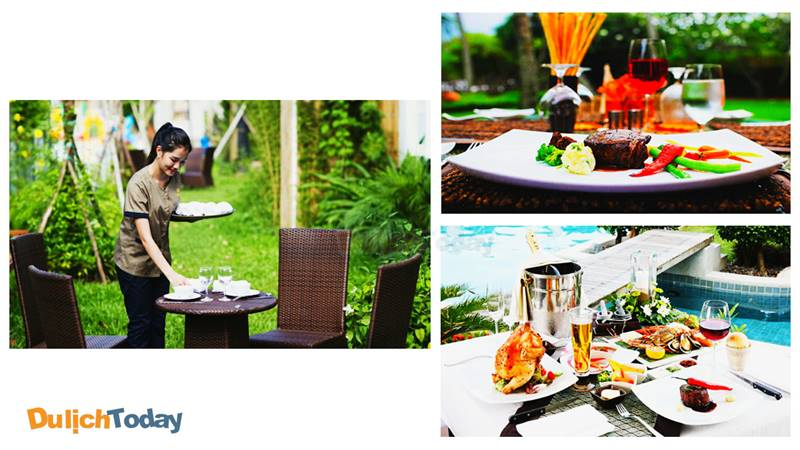 Thưởng thức những món ăn Âu Á tại hệ thống nhà hàng 3 sao tại Vườn Vua Resort