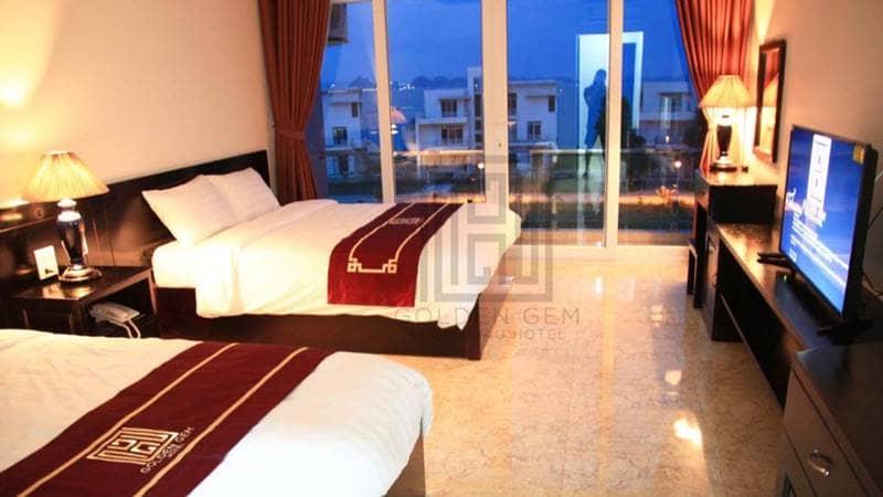 Phòng nghỉ tại khách sạn Golden Gem Tuan Chau Hotel