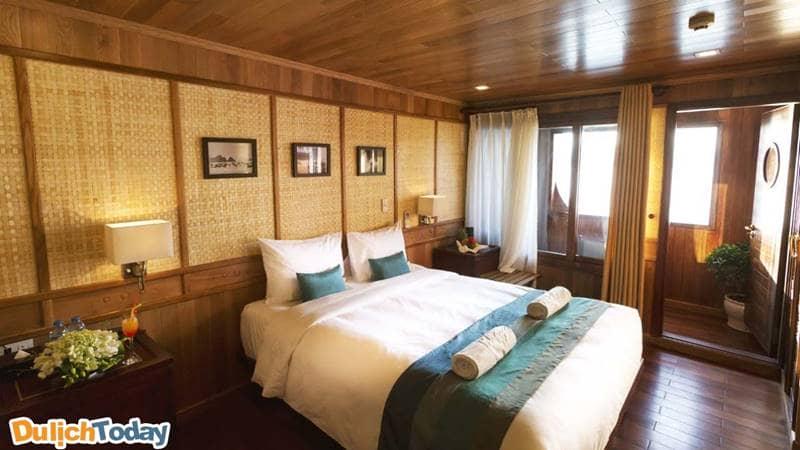 Phòng nghỉ được thiết kế đặc trưng với phong cách tinh tế, sang trọng