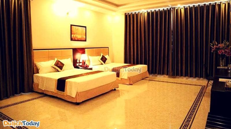 Tất cả các phòng nghỉ tại khách sạn Iris đều có diện tích khá rộng