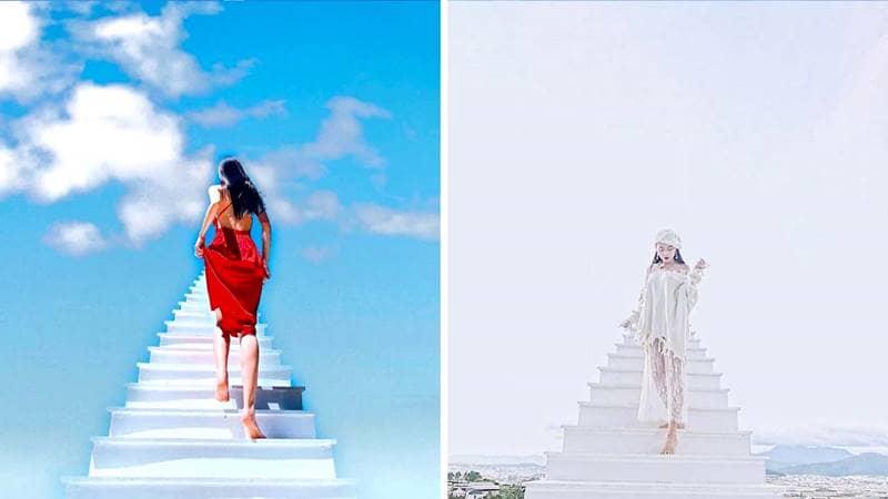 Ghi lại những bức hình cực cực độc tại Nấc thang lên thiên đường. Nguồn: Internet