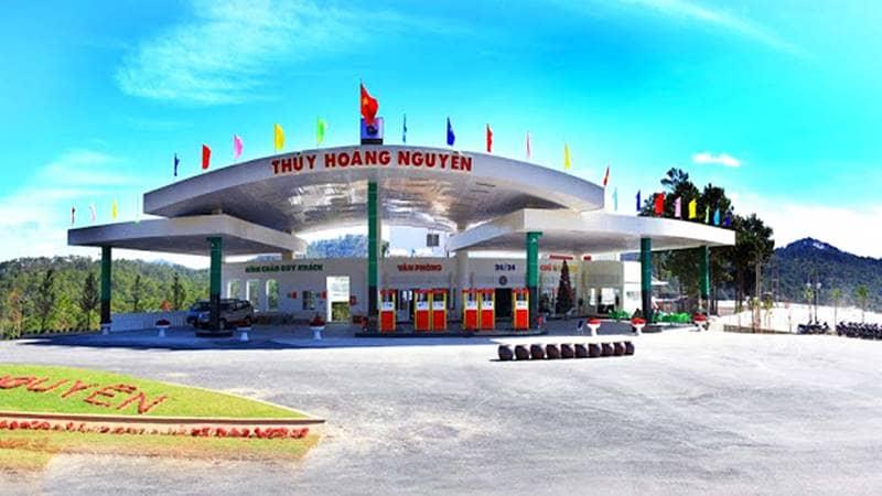 Trạm xăng thuộc sở hữu của resort 4 sao Đà Lạt Thủy Hoàng Nguyên. Nguồn: Internet