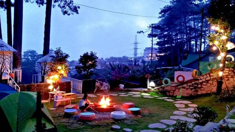 Bạn có thể đốt lửa trại ngay trong khuôn viên homestay