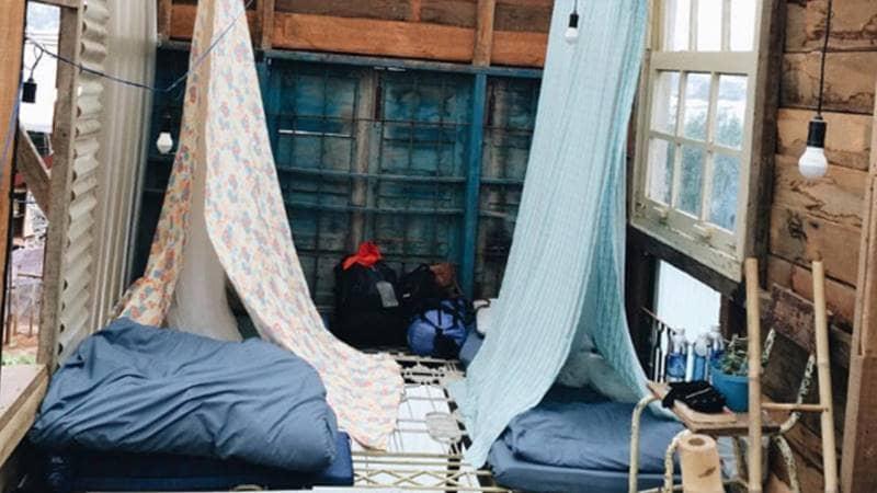 Phòng ngủ của Nhà Tre cực yêu