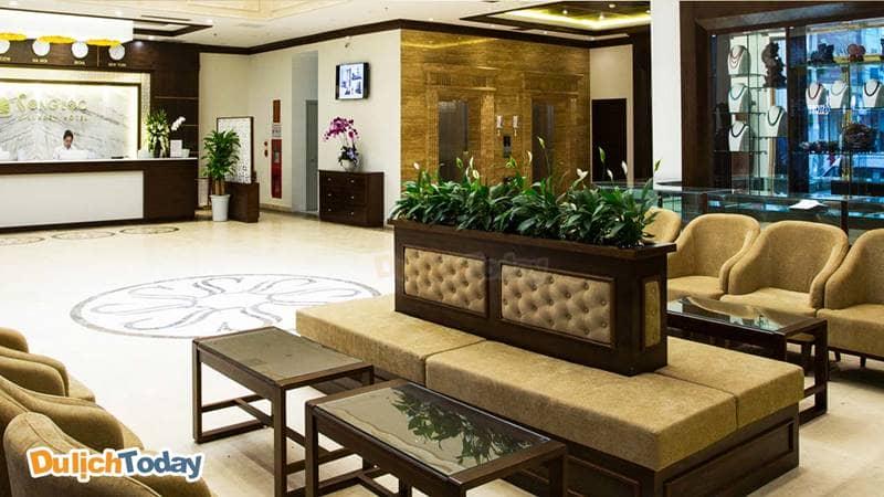 Một trong những lý do khách sạn Song Lộc Luxury được đánh giá cao là nhờ thiết kế hiện đại đẹp mắt