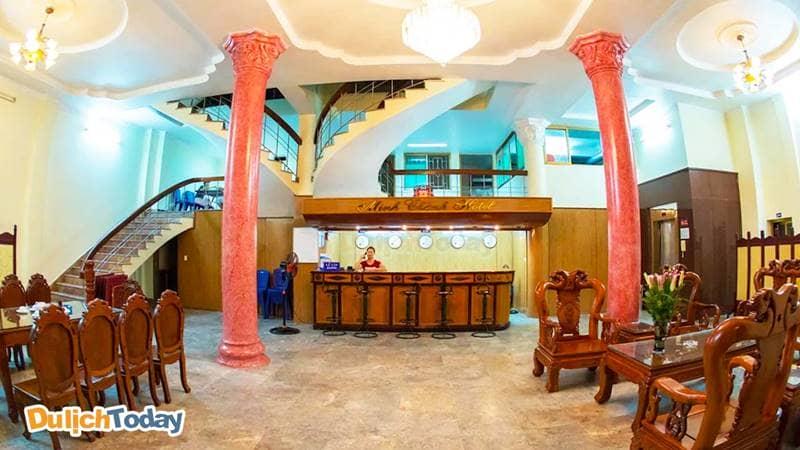 Khu vực sảnh tại khách sạn Minh Thành Hạ Long