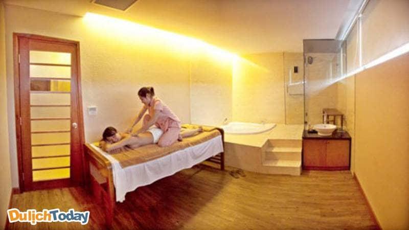 Trải nghiệm massage toàn thân tại phòng riêng thoải mái thư giãn tại khách sạn Mường Thanh Vũng Tàu