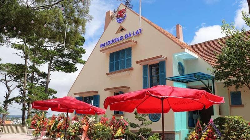 Thiết kế nhà hàng hải sản Đà Lạt Đại Dương khá lạ và đẹp mắt. Nguồn: Internet