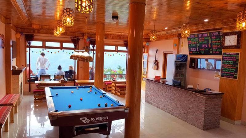 Không gian giải trí với view đẹp tại nhà nghỉ Sapa Odyssey