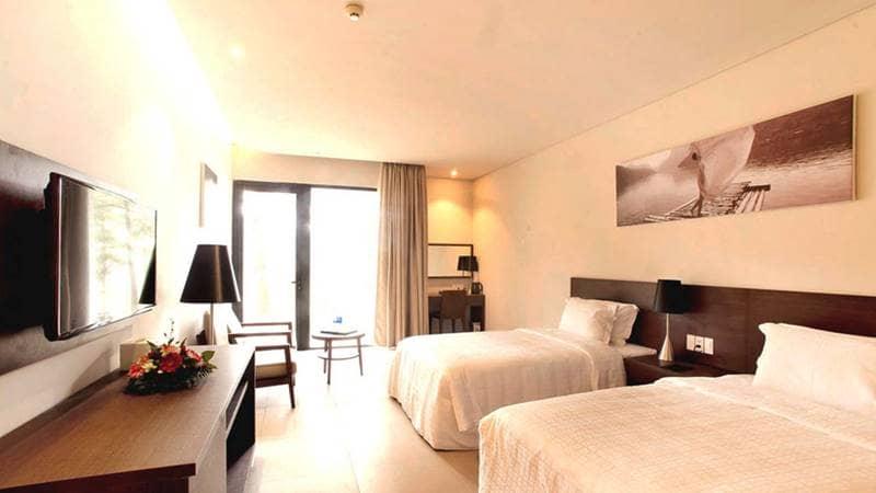 Terracotta resort hồ Tuyền Lâm Đà Lạt có thiết kế phòng ngủ đơn giản mà tinh tế. Nguồn: Internet