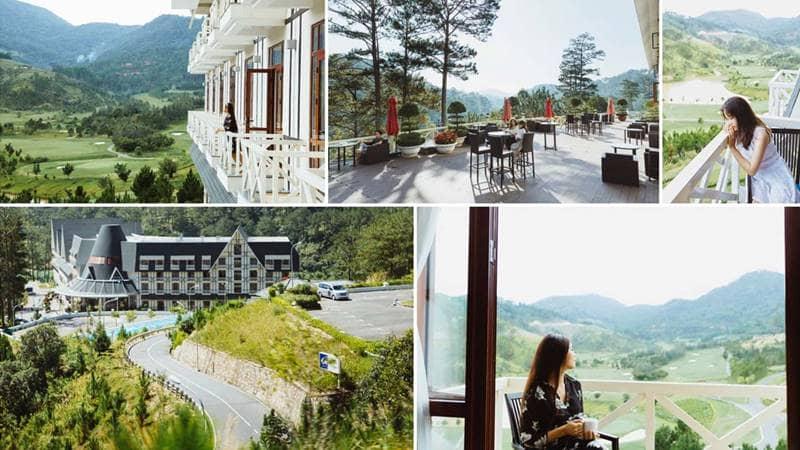 Resort hồ Tuyền Lâm Đà Lạt 3 sao với view nhìn ra rừng thông và sân Golf. Nguồn: Internet