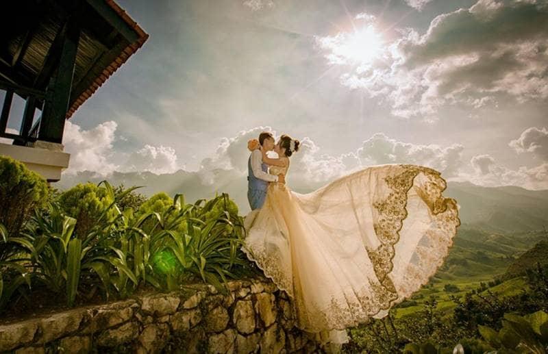 Chụp ảnh cưới trong không gian tuyệt đẹp tại Sapa Jade Hill