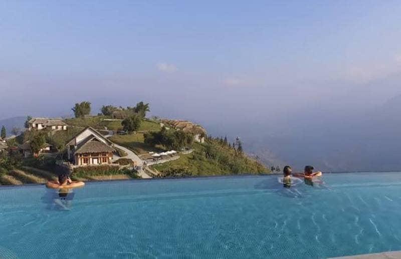Chiêm ngưỡng khung cảnh Sapa tuyệt sắc khi thư giãn tại bể bơi Topas Ecolodge