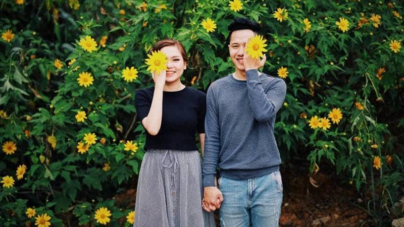 Bạn sẽ có những bức hình đẹp cùng nhau với hoa dã quỳ