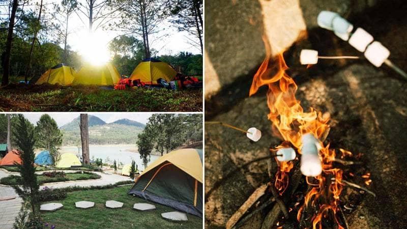 Cắm trại ngắm cảnh bình minh ở hồ Tuyền Lâm Đà Lạt. Nguồn: Internet