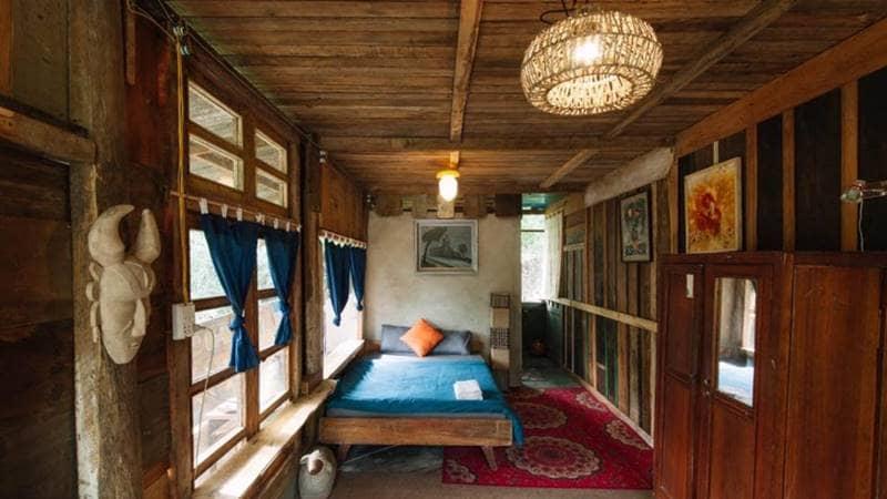 Phòng ngủ tại LeBleu được bài trí đơn giản mà nổi bật