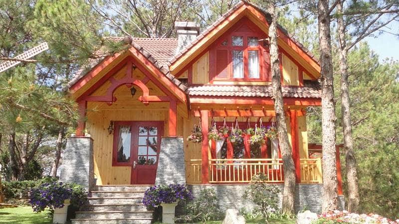 Biệt thự dành cho gia đình ở Mộng Mơ resort Đà Lạt giá rẻ nhất. Nguồn: Internet