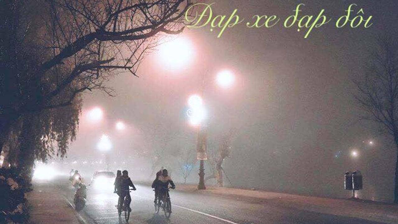 Vi vu trên chiếc xe đạp đôi ngắm Đà Lạt về đêm. Nguồn: Internet