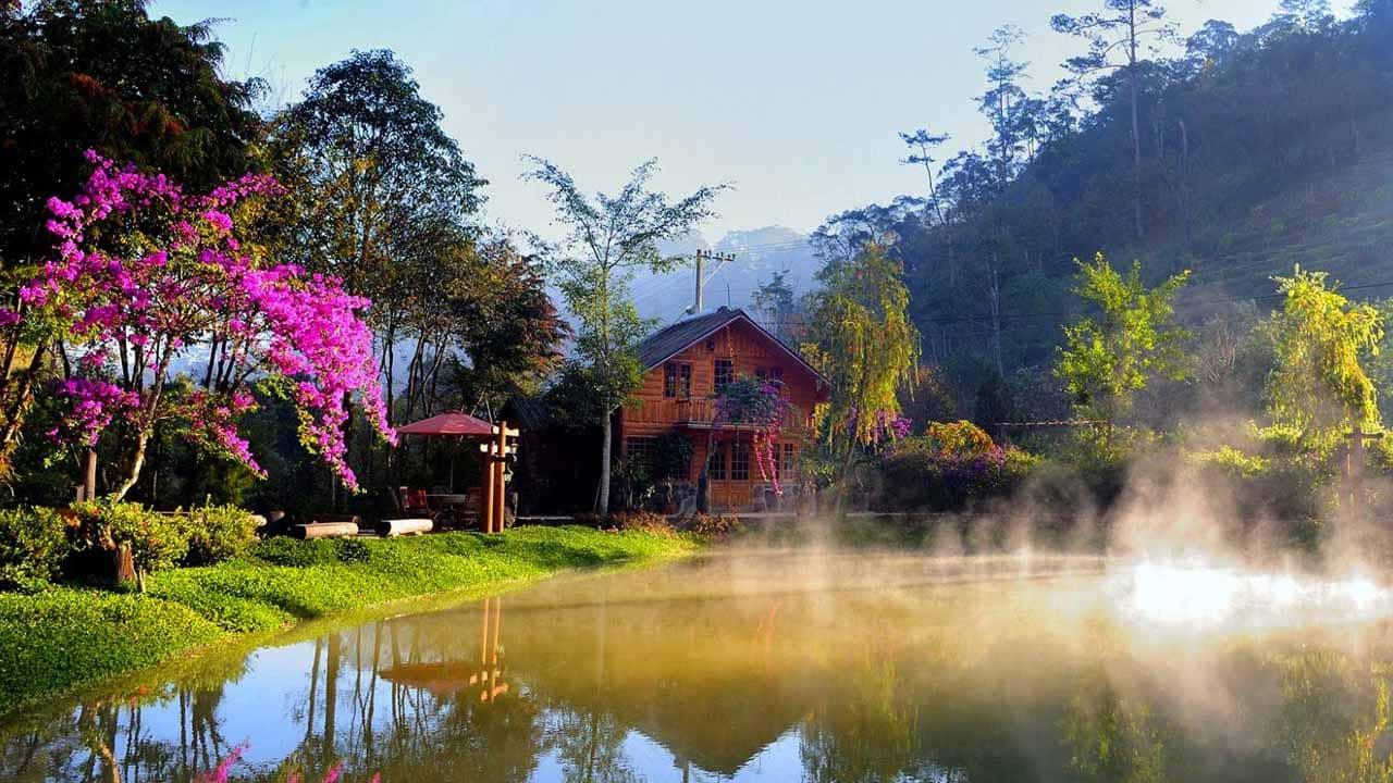 Không gian khu du lịch sinh thái làng Cù Lần