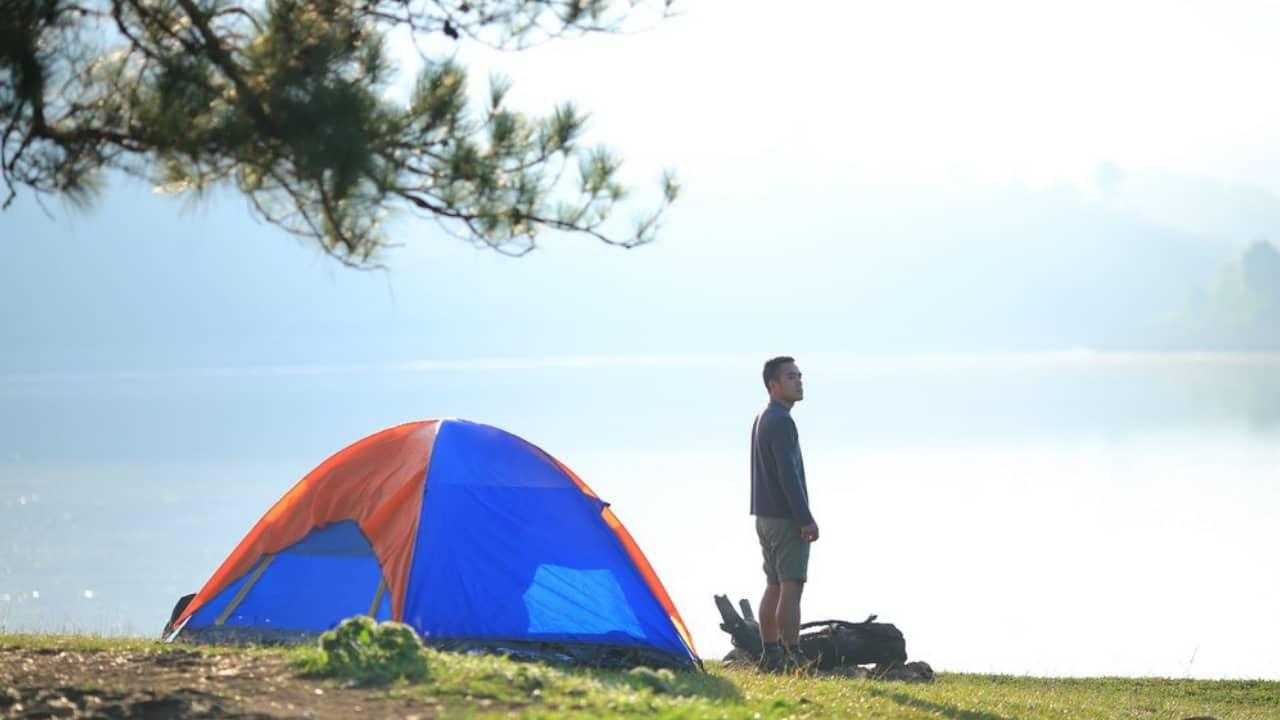 Cắm trại khu vực hồ thủy điện Ankroet