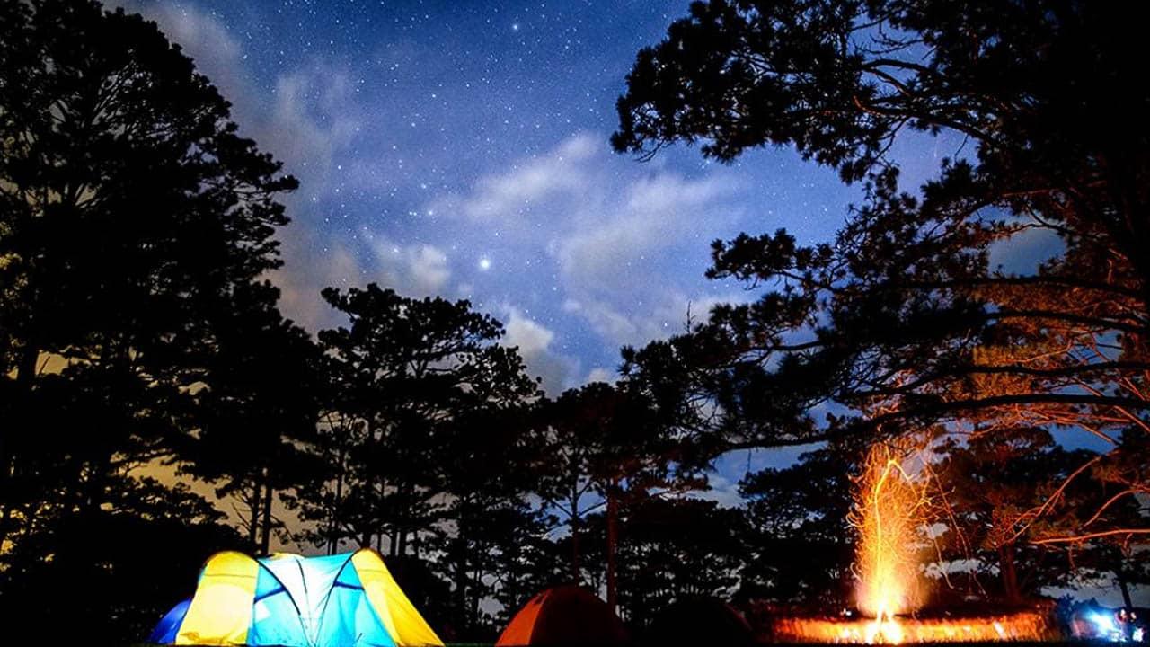 Tận hưởng đêm Đà Lạt khi cắm trại đêm