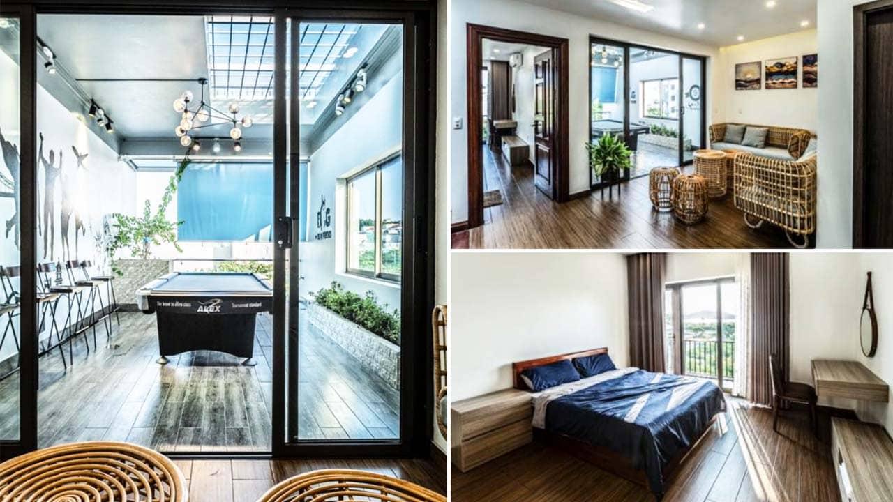 Full House Villa Hạ Long có thiết kế bắt mắt, hiện đại, phù hợp cho các nhóm bạn trẻ. Nguồn: Internet