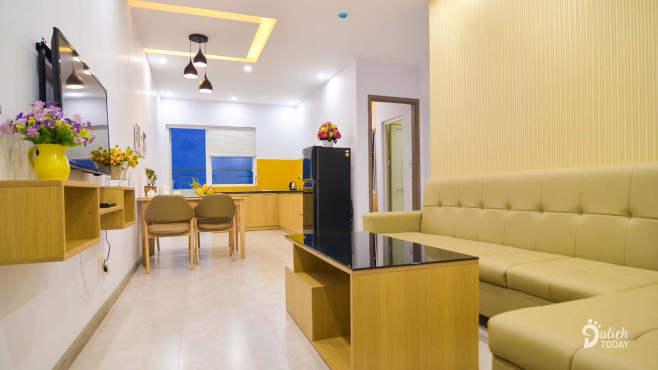 Không gian bên trong Seaview Muong Thanh Vien Trieu Apartment