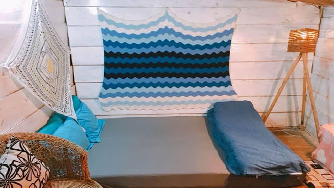 Không gian thoải mái của phòng ngủ tại homefarm