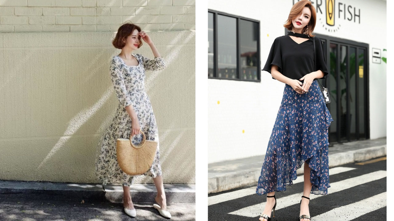 Váy hoa vintage dáng dài sẽ cực tuyệt với thời tiết Đà Lạt tháng 7