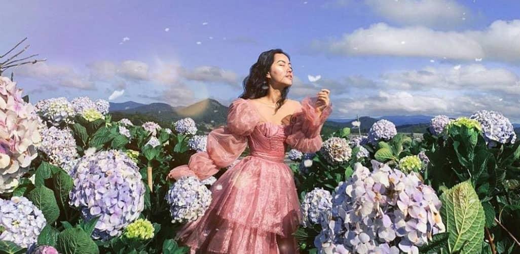 Trở thành tiên nữ cùng Hà Trúc ở cánh đồng hoa cẩm tú cầu