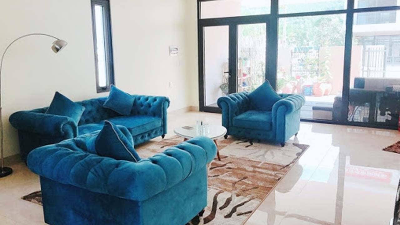 Phòng khách với không gian mở ở Victoria La Villa Hạ Long. Nguồn: Internet