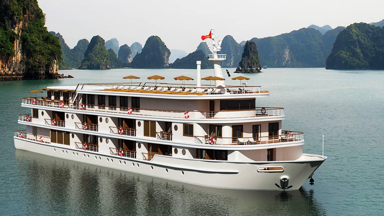 Du thuyền Hạ Long vỏ thép. Nguồn: Internet