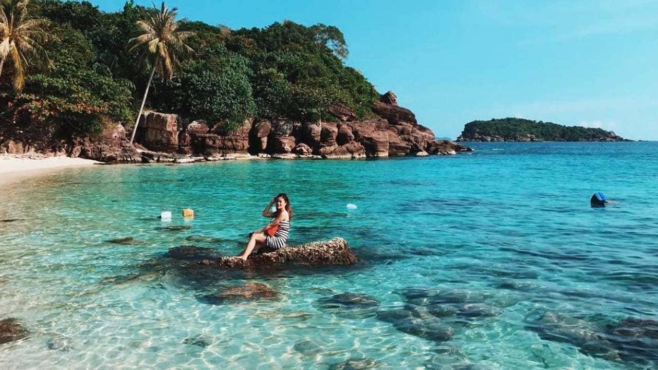 Hòn Móng Tay ở Phú Quốc, nơi nước biển xanh và trong vắt. Nguồn: Internet
