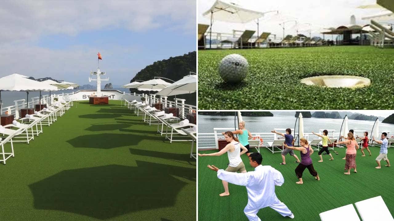 Sân Golf mini vừa chơi golf vừa luyện thái cực quyền. Nguồn: Internet