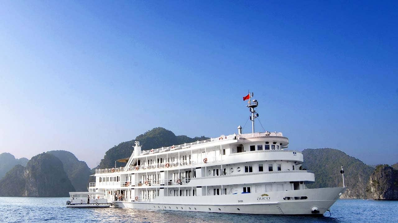 Du thuyền Âu Cơ Luxury là du thuyền hạng 5 sao thuộc đội tàu Bhaya. Nguồn: Internet