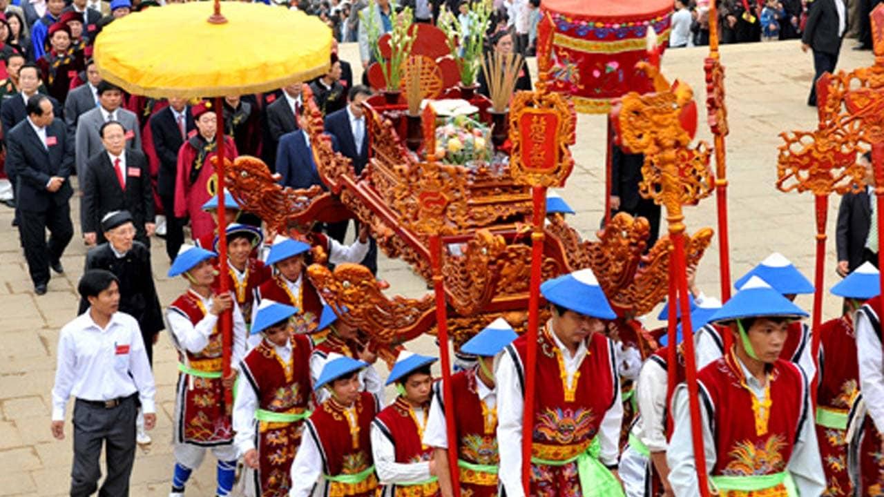 Giỗ trận là một trong những lễ hội lớn nhất được tổ chức tại khu di tích Bạch Đằng Giang Phú. Nguồn: Internet