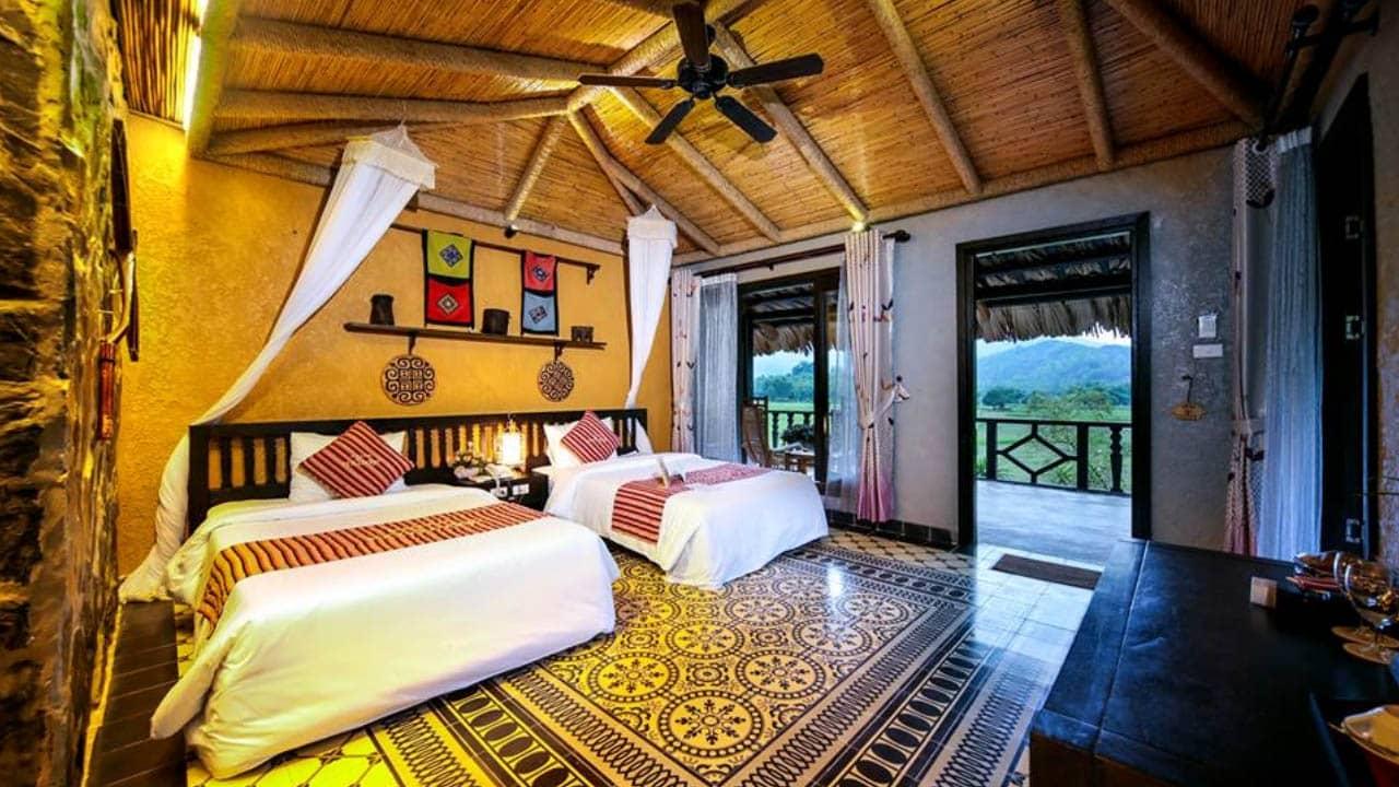 Phòng Family tại Mai Châu Ecolodge